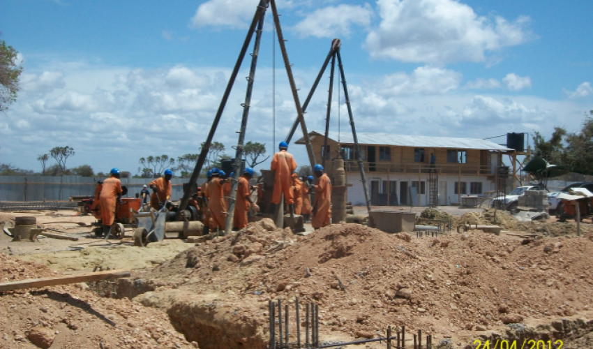 Piling Woks for the Administration building at New Lamu Port