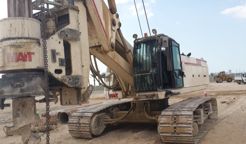 Our New HR 180 Piling Rig Insalling 600 Dia pilles at Apex Steel Factory